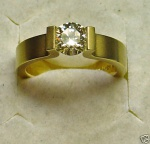 TOPDESIGN Spannring 585 Gold BRILLANT 0,53 ct